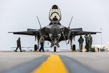 First USAF F-35A takes overseas flight to England