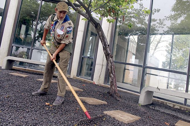Eagle Scout beautifies HAFB chapel grounds
