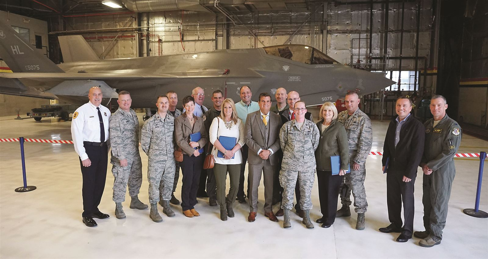 419th FW inducts honorary commanders
