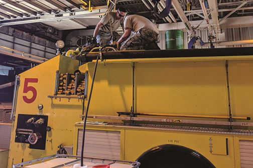 New firefighting foam  protects Airmen, environment