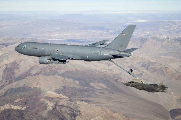 KC-46 Pegasus connects with fifth-generation fighter