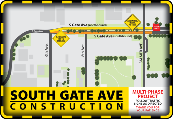 South Gate traffic to be impacted by construction