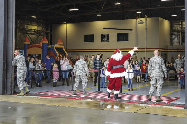 Santa zooms to Hill AFB for early Christmas